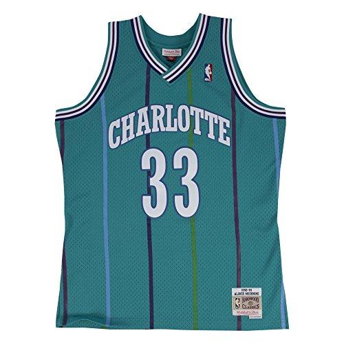 - Alonzo Mourning Charlotte Hornets Mitchell & Ness Swingman Jersey Teal (Large)