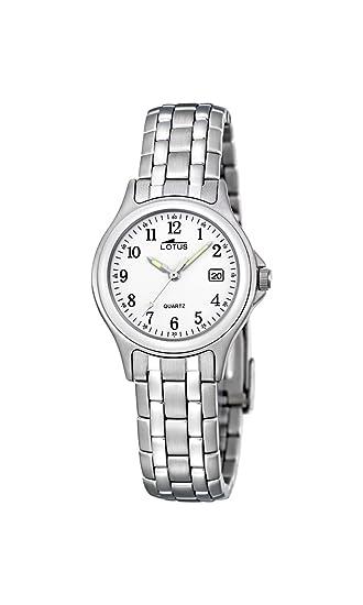 Lotus Reloj Analógico para Mujer de Cuarzo con Correa en Acero Inoxidable  15151 A  Amazon.es  Relojes ecd2f553cb69