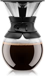Bodum 11571-01US Pour Over Coffee Maker with Permanent Filter, 34 oz, Black