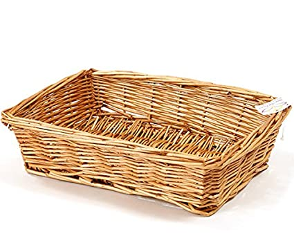 Your Gift Basket Al por Mayor la Bandeja de Mimbre Mayfair Miel (Caja de 15