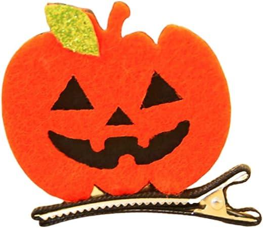 Felt pumpkin alligator clip barrette
