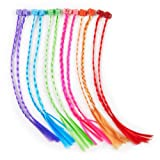 U.S. Toy Nylon Hair Braid Extensions Attachments - 12 Pieces