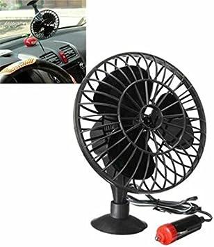 Útil – Mini ventilador de refrigeración aire frío Negro para Auto ...