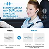 Mpow EM10 Bluetooth Headset V4.2, Bluetooth Earpiece w/Dual Noise Cancelling Mic, 15 Hours Playtime, Wireless Headphone Cell Phone