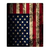 CafePress - Vintage American Flag Grunge - Soft Fleece Throw Blanket, 50''x60'' Stadium Blanket