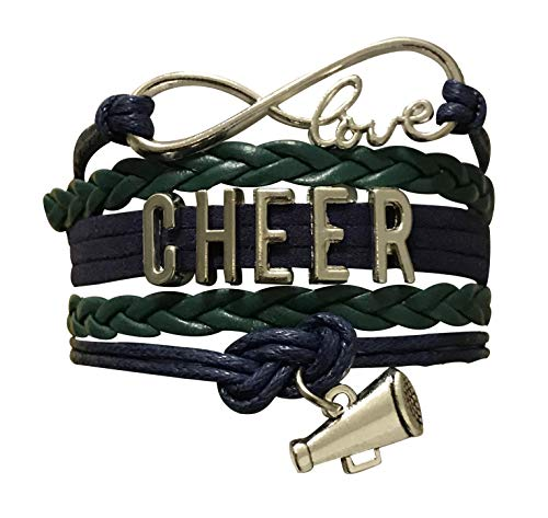 (Infinity Collection Cheer Bracelet- Cheerleading Bracelet- Cheer Jewelry for Cheerleader, Cheer Mom or Cheer Team)