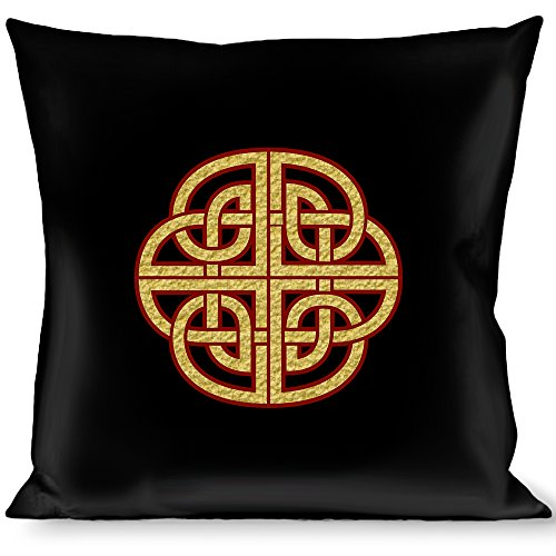 Buckle Down Throw Pillow Knot Black/Burgundy/Gold, Celtic