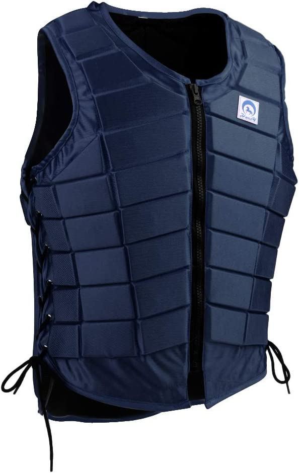 LuDa Safety Horse Riding Vest Equestrian Body Protective Gear Navy Blue Kid Adult : Sports & Outdoors