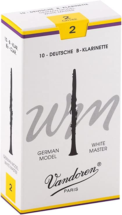 Klarinette Stärke 2,5 10 St Vandoren White Master Klarinettenblätter Blätter Bb