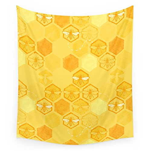 Society6 Dance Of Bees Wall Tapestry Large: 88'' x 104'' by Society6