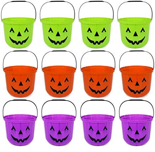 Set of 12 Pumpkin Halloween Treat Buckets! 7.48