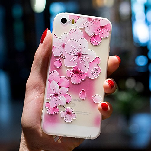 Cocomii Cute Armor iPhone SE/5S/5 Case New [Feels So Good in Hand] Premium Pretty 3D Pattern Relief Silicone Shockproof Bumper Shell [Slim] Full Body Cover for Apple iPhone SE/5S/5 (C.Cherry - 4 Rated Highest Ipad Case