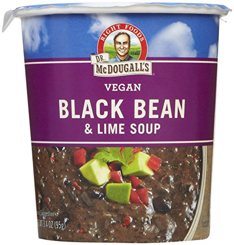 Dr. McDougall's Black Bean & Lime Big Soup Cup - 3.4 oz - 6 pk