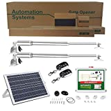 ECO-WORTHY Solar Automatic Gate Opener Complete Kit with Remote for Dual Swing Gates 1322 lbs. 16 Feet (ft.) Soft Start 110V AC Compatible Included Batteries