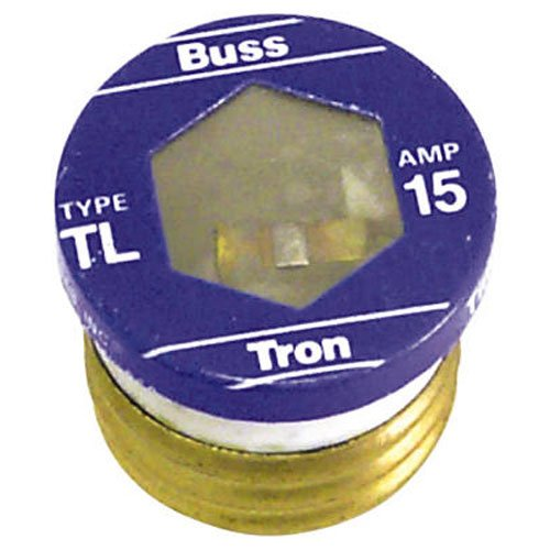 Bussmann TL-15PK4 15 Amp Time Delay, Loaded Link Edison Base Plug Fuse, 125V UL Listed, 4-Pack ()