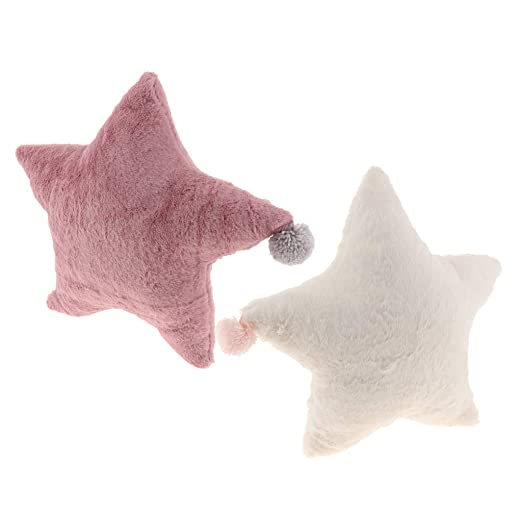 FLAMEER 2X Cojín de Sofá Almohada de Cama Forma de Estrella ...