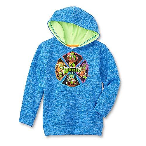 Nickelodeon Teenage Mutant Ninja Turtles Boys' Hooded Sweatshirt, Blue (Medium 5/6) -