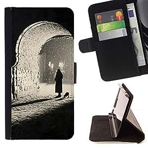 Momo Phone Case / Flip Funda de Cuero Case Cover - Sombre photo profonde - HTC Desire 626