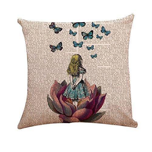 Housses DE pour Coton Maison Coloré Papillon Voiture cm A 45 Homebaby 45 4 x et par de Coussin Lin Lot Canapé 4Exqdnq