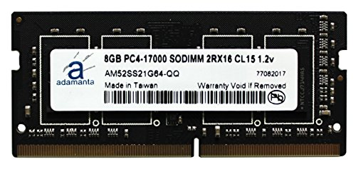 Adamanta 8GB (1x8GB) Laptop Memory Upgrade for HP HP EliteBook, EliteDesk, Probook, Z1, Z2, ZBook, ZBook Studio DDR4 2133Mhz PC4-17000 SODIMM 2Rx16 CL15 1.2v DRAM RAM