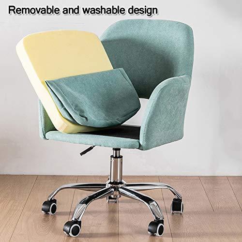 Linne skrivbordsstol för hem kontor stol mitt bak justerbar höjd svängbar stoppad uppgift stol med armar ergonomiska datorstolar