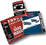 Ford 8N Service Manual Set Includes Repair, Operators and Parts Manuals 3 Volumes