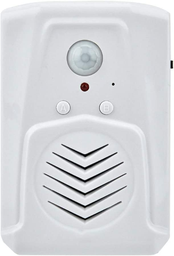 DERCLIVE USB//Battery Powered Motion Sensor Alarm MP3 Audio Player Infrared Induction Doorbell