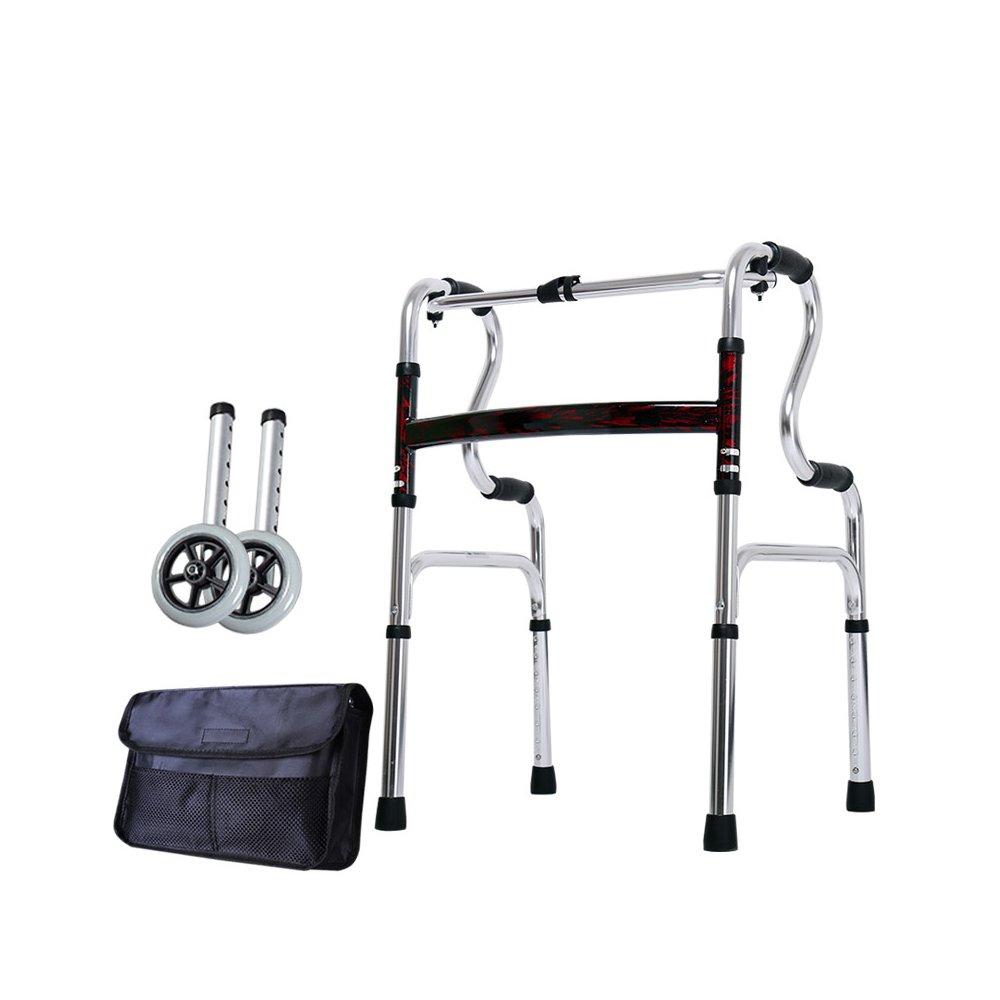 トイレシート 歩いている老人の助けを借りて歩くアルミ合金ベルトホイール4フィートの松葉杖障害のある歩くスティック (色 : B) B07D8JM95F  B