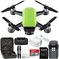DJI Spark Portable Mini Drone Quadcopter + DJI Goggles Virtual Reality VR FPV POV Experience Starters Bundle (Meadow Green)