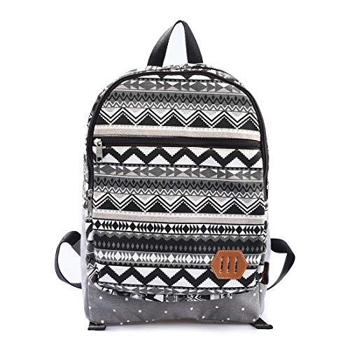 MoreChic Women Canvas Backpack Preppy Shoulder Bookbags College Travel Backpack Bag