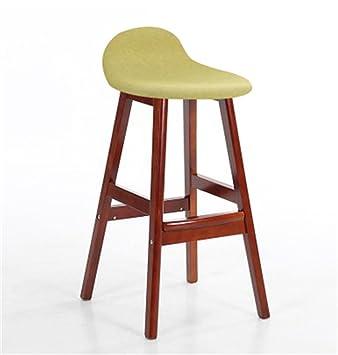 American Solid Wood Bar Chair European Bar Chair Retro Stool Backrest Front Desk Bar Chair High Stool Elegant Appearance Bar Chairs