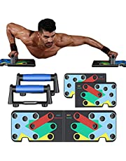Push Up Bars For Men-14 in 1 Multifunction Pushups-Foldable Pushup Board Muscle Training-Push Up Handles For Floor-Core Muscle Trainer Home Workout- Adjustable Pushup Stand for Women-Exercise Strength Training Fitness Equipment