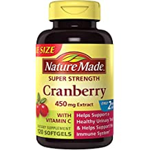 Nature Made Super Strength Cranberry + Vitamin C Softgels Value Size 120 Ct