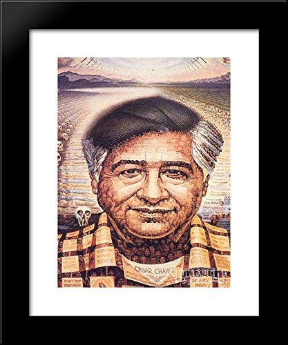 Chavez Framed - Ceaser Chavez 20x24 Framed Art Print by Ocampo, Octavio