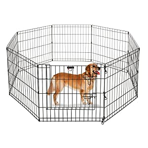 Pet Trex 24″ Playpen for Dogs Eight 24″ Wide x 24″ High Panels Click on image for further info.