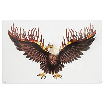 eDealMax Flying Eagle Imprimir Stick-gráfico en la motocicleta de la etiqueta engomada del coche