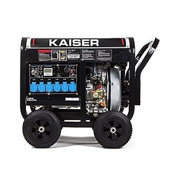 Generador eléctrico Kaiser Diésel abierto 6000W monofásico automático | Generadores electricos: Amazon.es: Electrónica