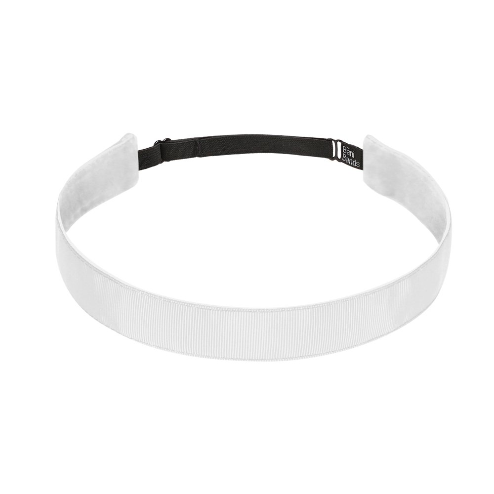 Bani bandas de la mujer sólido 7/8 pulgadas ajustable diadema con forro antideslizante, color blanco: Amazon.es: Deportes y aire libre