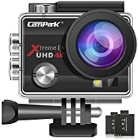 【2020 Upgrade】 Campark 4K 20MP Action Camera EIS External Microphone Remote Control WiFi Waterproof Camera with 170° Wide...