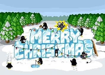 Weltbild Weihnachtskarten.Weihnachten Pinguine A6 Pixel Art Christmas Karte Pack Von Sechs