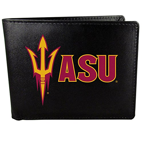 Arizona State Credit Card - Siskiyou NCAA Arizona State Sun Devils Wallet Large Logo, Bi-fold, Black