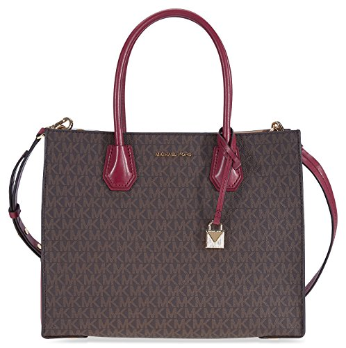 Michael Kors Large Mercer Logo Tote - Brown / Mulberry