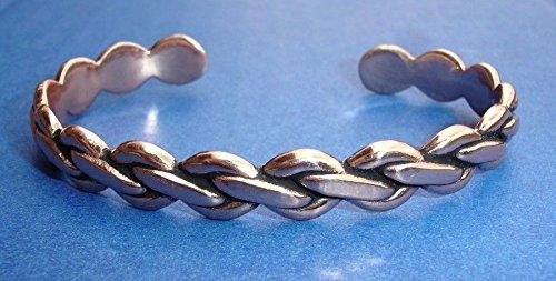 Western Jewelry Copper Twisted Rope Cuff Bracelet 2 5/8