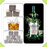9 Whisky Stones / Whisky Rocks In A Pouch- Choose From Basalt, Soap Stone or White (Light Grey (Sopastone))