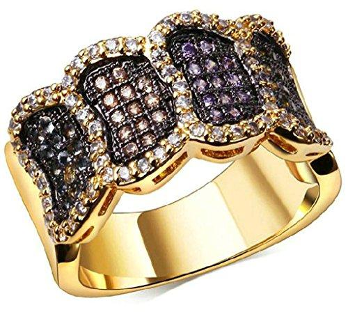 Bague-PersonnalisAdisaer-Bague-Femme-Plaque-Or-Bague-de-Fiancaille-Gravure-Bague-Diamant-Elegant