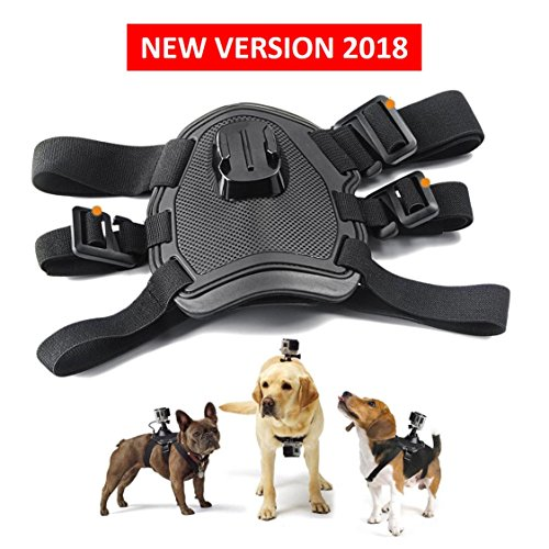 Dog Harness, Back Mount for GoPro Hero 4/3+/3/2/1 SJCAM Sj5000+ Sj4000, Pet Chest Strap with Two Camera Mounts for Medium and Large-size Dogs, Sports Camera Accessories Bundle post thumbnail