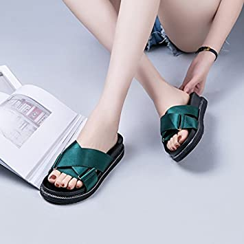 cb2528523 SAEJJ-Thick soled sandals and slippers ladies wear high-heeled women in  summer in