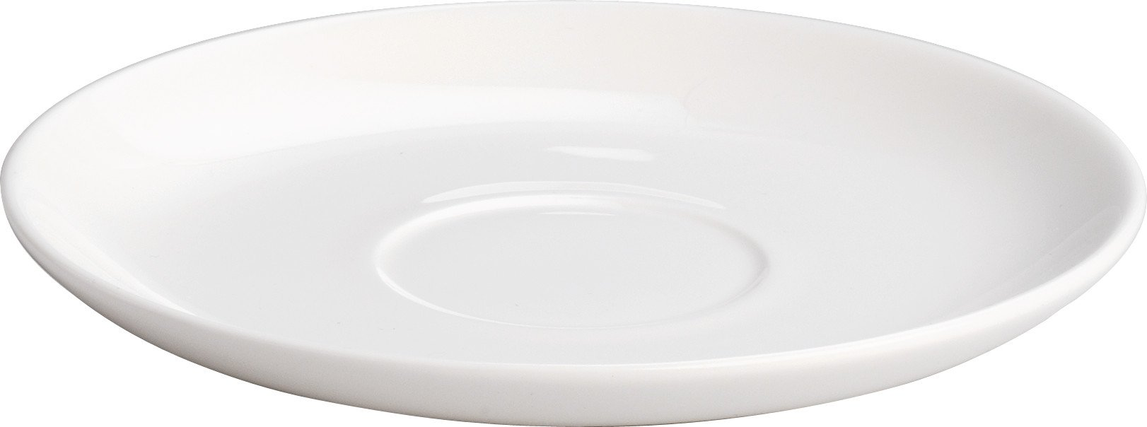 Alessi''All-Time'' Saucers For Teacup in Bone China (Set of 4), White