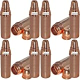 Prisha India Craft (Set of 12) Pure Copper Water Bottle Thermos for Ayurvedic Health Benefits - 800 ML / 27 oz - 100% Genuine Copper Water Bottles