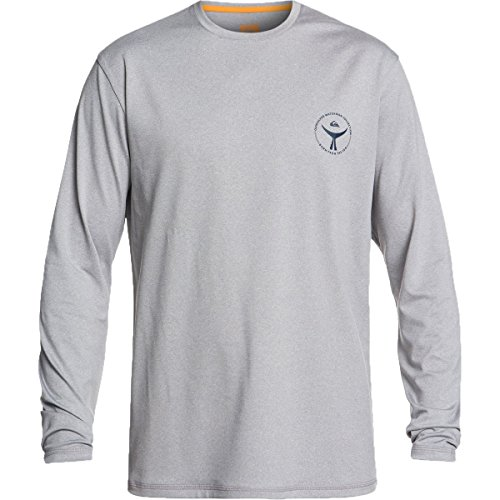 Quiksilver Waterman Men's Watermark LS 50+ UPF Long Sleeve Rashguard, Grey Marl, L by Quiksilver
